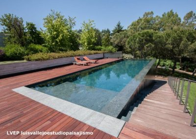 Negro Encina_Private swimming pool La Moraleja 3, Madrid(Spain). Luis Vallejo, landscape architec